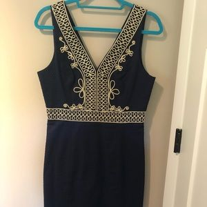 Navy Lilly shift dress